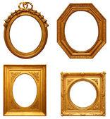 Four antique picture frames — Stock Photo
