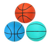 Basketballs isolated on white background — Stock Photo