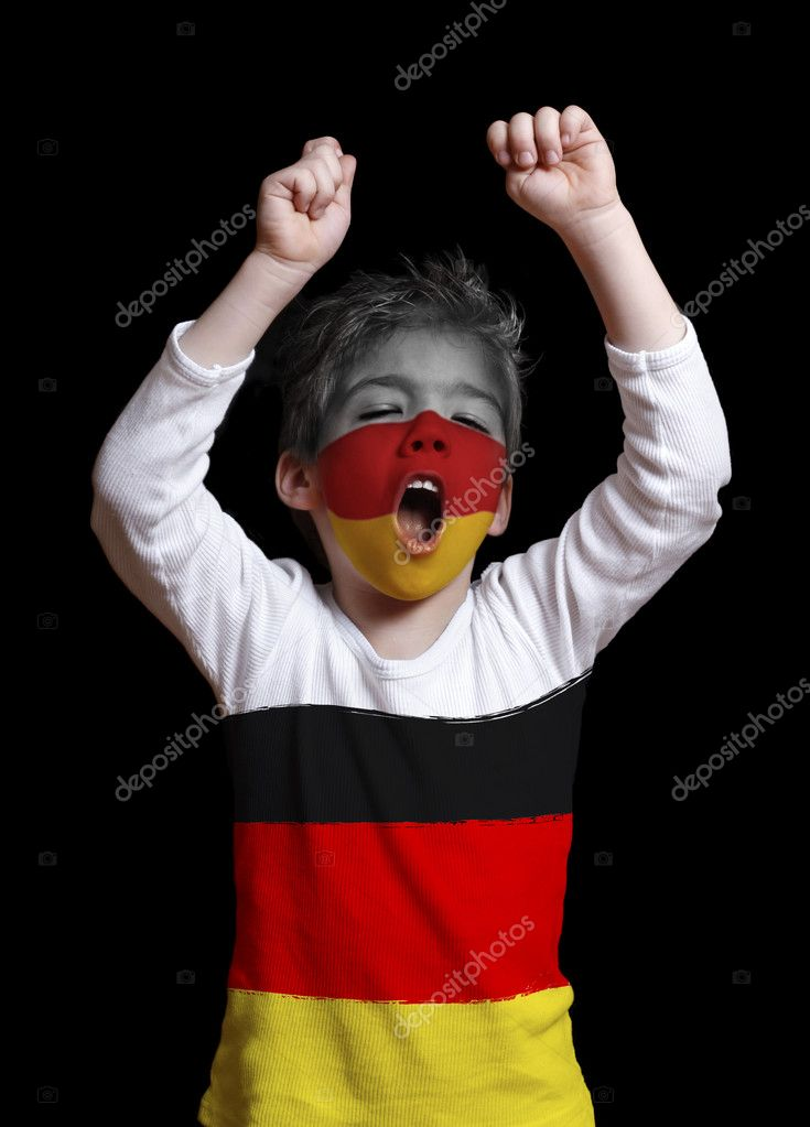 Germany fan close up — Stock Photo #2181153