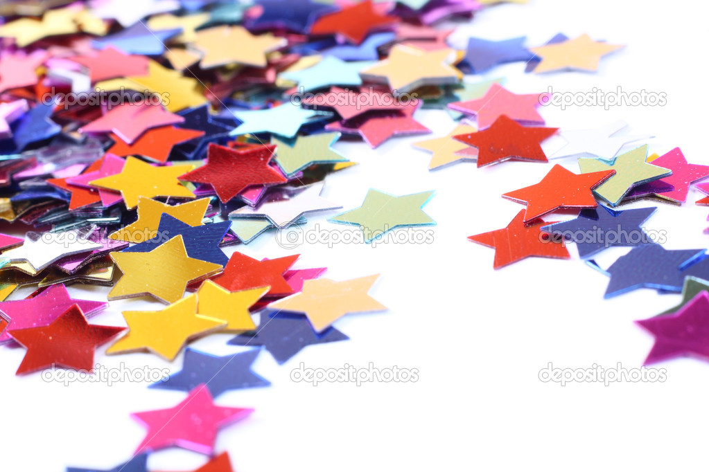 Stars in the form of confetti on white  Stock Photo #2181313