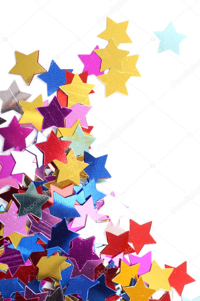 Stars in the form of confetti on white — Stock Photo #2181336