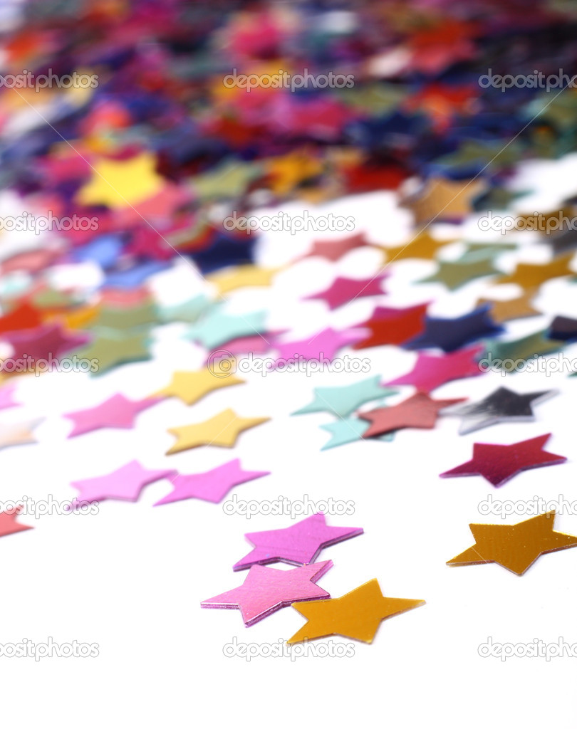 Stars in the form of confetti on white — Stock Photo #2181345