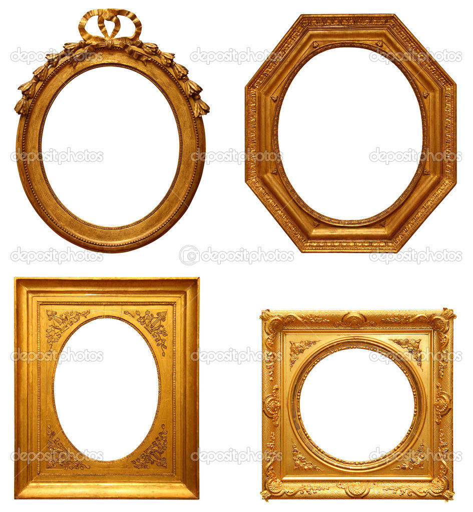 Four antique picture frames — Stock Photo #2182988