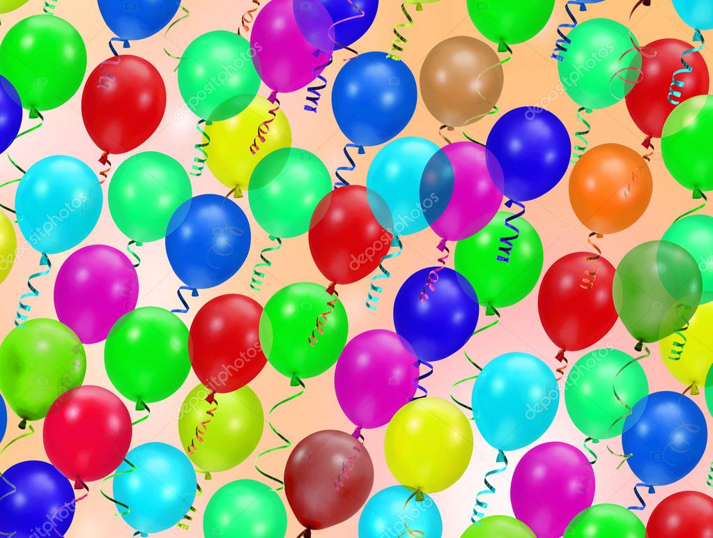 Colorful party balloons background  Stock Photo #2183648