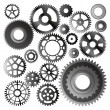 Set of gear wheels — Stock Vector