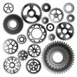 Stock Vector: Set of gear wheels