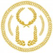 Laurel wreath - Vettoriali Stock