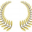 Stock Vector: Gold laurel wreath