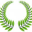Green laurel wreath - Stock Vector