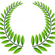 Stock Vector: Green laurel wreath