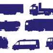 Vehicle shapes vector — Stock Vector