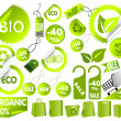 Big Set of green environmental icons — Stock Vector