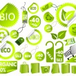 Stock Vector: Big Set of green environmental icons