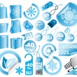 Set of  vector sale winter tags - Stock Vector