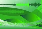анализатор спектра, абстрактный фон — Cтоковый вектор