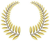 Gold laurel wreath — Stock Vector