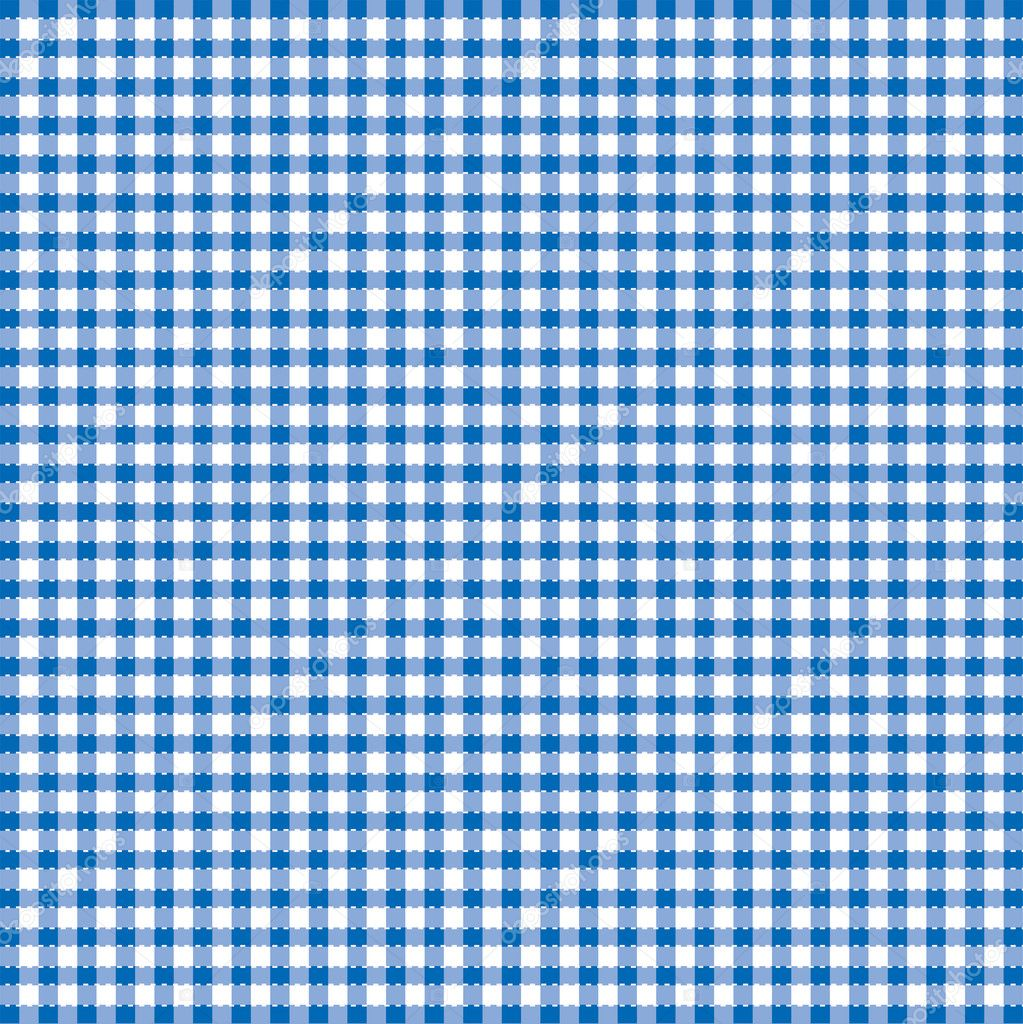 Blue and white popular background pattern for picnics — Stock Vector #2180921