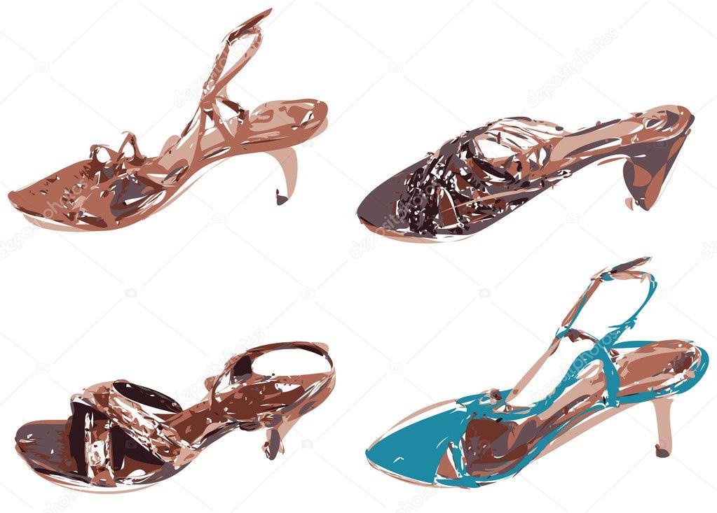 Fashion women shoes vector - Stock Illustration