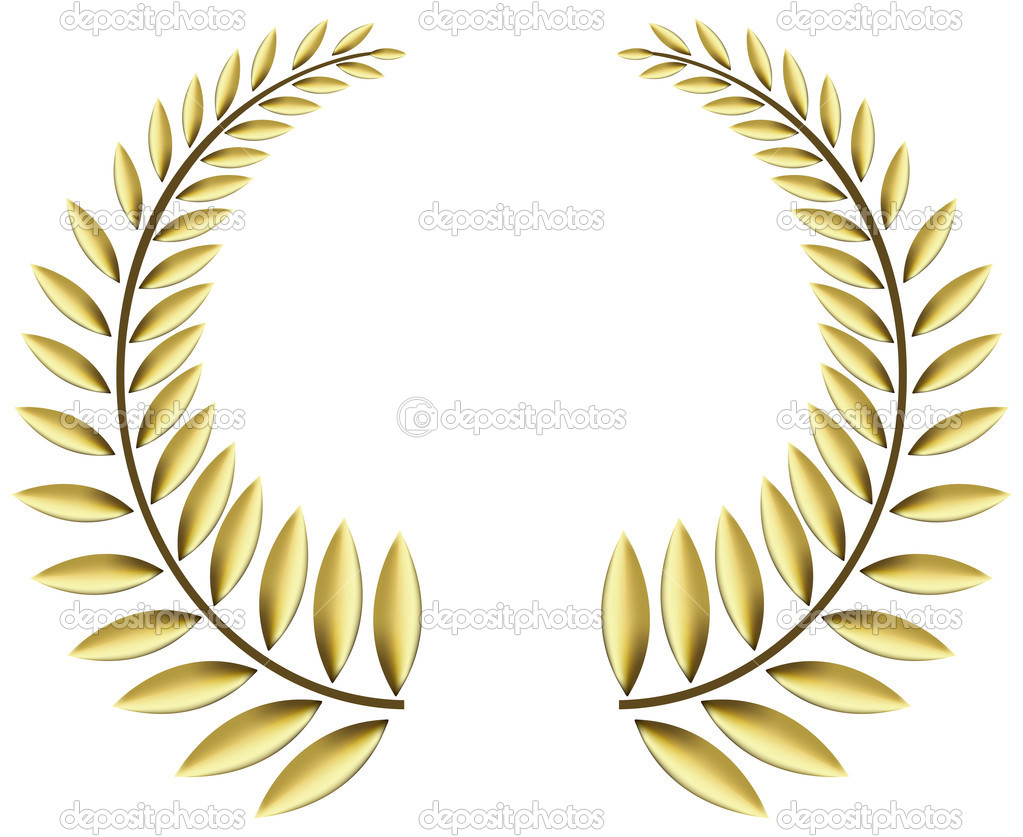 Vector illustration of a laurel wreath in gold — Stock Vector #2181610