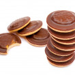 Hocolate biscuits tower — Stock Photo