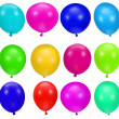 Colorful party balloons background — Stock Photo #2315099