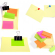 Post-it notes isolated on the white back - Stock Photo