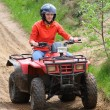 Stock Photo: Girl in quad