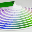Stock Photo: Color guide close-up