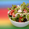 Tossed green salad, with tomatoes — Stock Photo