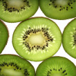 Background of juicy fresh sliced kiwi on — Stock Photo