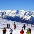 Ski slope covered mountain side — Stok Fotoğraf #2416288