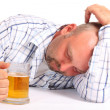 Stock Photo: Drunk Man