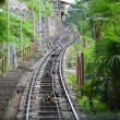 Railroad tracks in perspective - Stockfoto