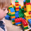 CHILD WITH TOY BLOCKS — Stock Photo