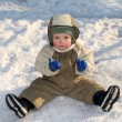 Foto Stock: Boy on snow