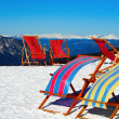 Stock Photo: Deck chairs