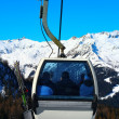 Ski lift gondola - Stock Photo