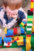 儿童与玩具块 — 图库照片