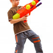 Young boy with water gun — Stock Photo