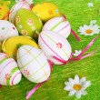 Painted Colorful Easter Eggs — Stock Photo