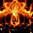 Flames or fire for background — Stock Photo