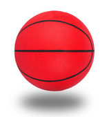 篮球在白色隔离 — 图库照片