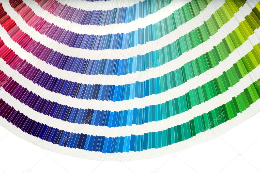 Closeup view of a color chart used for paint selection — Stock Photo #2607968