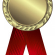 Gold award ribbons — Stok Vektör