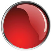 Glossy red button balls. — Stock Vector