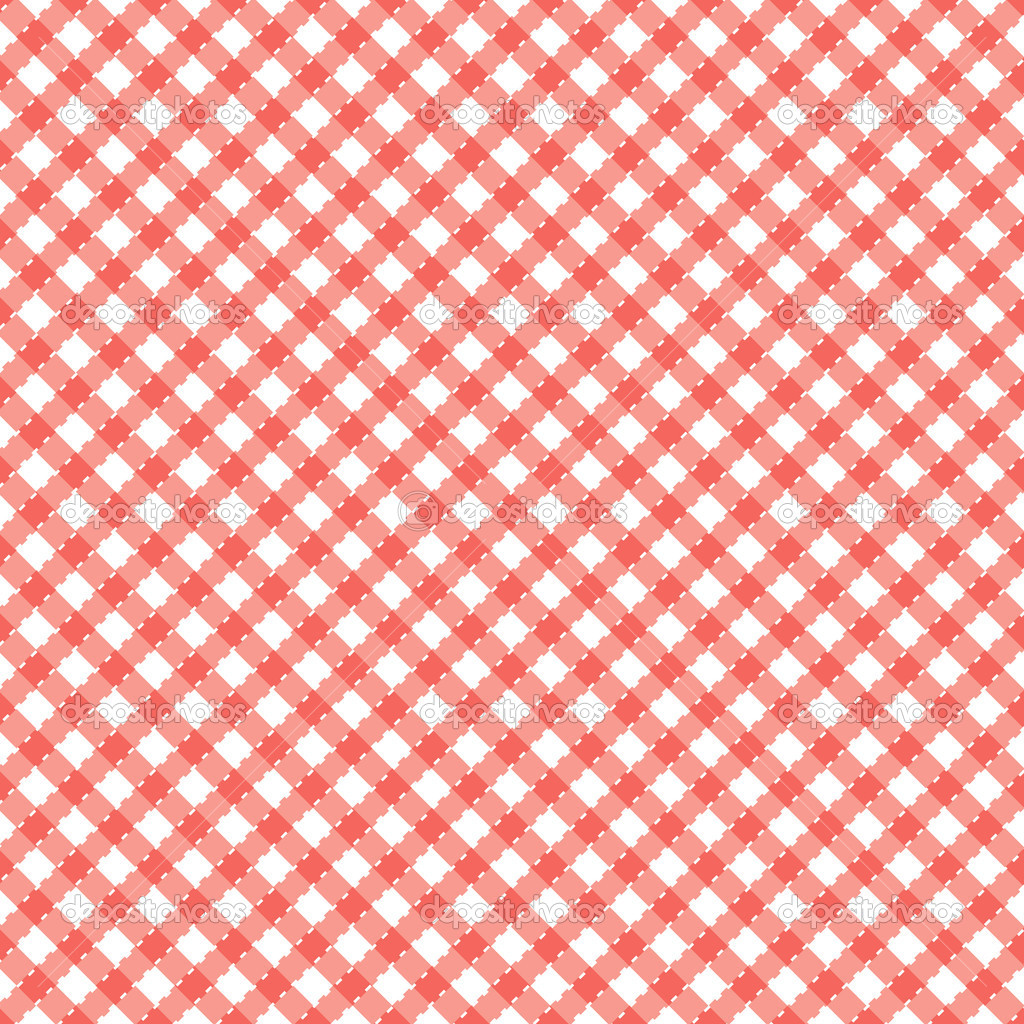 Red and white popular background pattern for picnics  Stock Vector #2608457