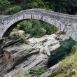Ancient arch stone bridge — Stock Photo