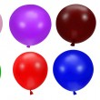 colorful party balloons — Stock Photo