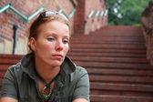 Smutná žena — Stock fotografie