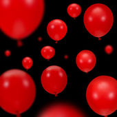 Background of red party balloons — Stock Photo